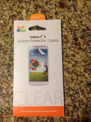 TECH & GO - Galaxy S 4 Screen Protectors with Microfiber cloth new in package