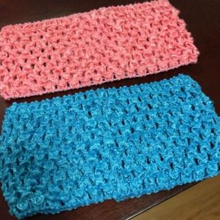 Two (2) Crochet, Stretchable Headbands. #23
