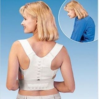 Magnetic Back Shoulder Corrector Back Support Brace Belt Adjustable Health