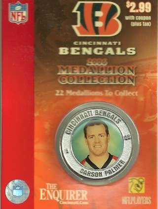 2006 Cincinnati Bengals Medallion, Carson Palmer