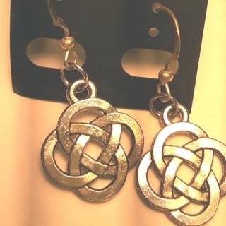 Silver Tone  Cute Earrings