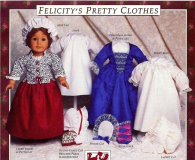 Free American Girl Felicitys Pretty Clothes Pdf Pattern Sewing