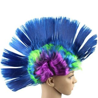Hallowmas Masquerade Punk Mohawk Mohican hairstyle Cockscomb Hair Wig