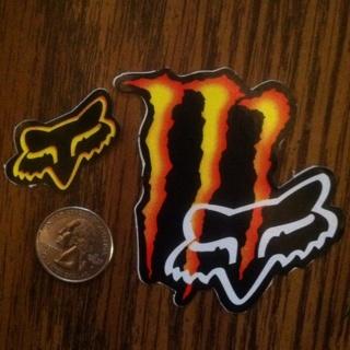 Free Redorange Yellow Monster Energy Sticker W Fox