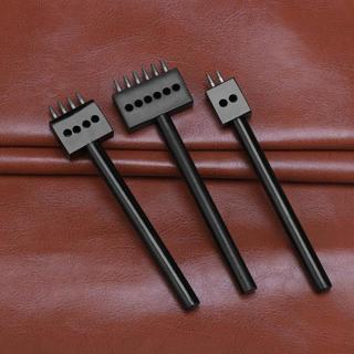[GIN FOR FREE SHIPPING] Leather Punching Tool 2/4/6 Prong Hole Row Circular Cut Stitched Spacing