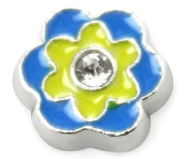 ♥Ƹ̵̡Ӝ̵̨̄Ʒ♥ Blue & Yellow Flower ♥Ƹ̵̡Ӝ̵̨̄Ʒ♥ Living Locket Charm ☆VERIFIED USERS ONLY PLEASE☆