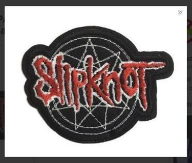 1 Slipknot IRON ON PATCH Band Embroidered Applique Adhesive Badge FREE SHIPPING