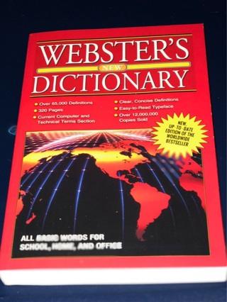 Br. New Copy Of Webster's 320 page Dictionary. Modern, 65000 Definitions. 4 School / work ...