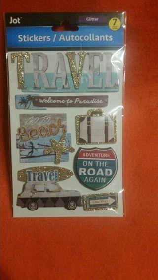 Sticker travel theme
