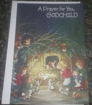 NEW GodChild Christmas Card