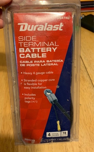 DURALAST SIDE TERMINAL BATTERY CABLE