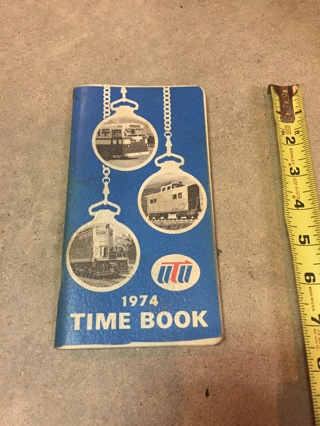 1974 Vintage Railroad log Time Book