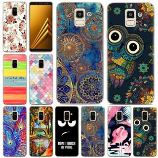 For Samsung Galaxy A5 A7 2017 A6 A8 Plus 2018 Painted Soft TPU Back Case Cover