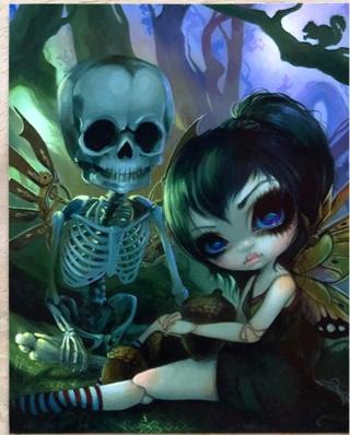 "Big eyes with skeleton - 3 x 4"" MAGNET"