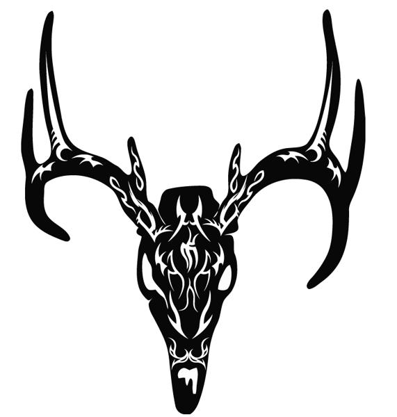 Free Tribal Deer Skull Vinyl Decal Other Listia Com