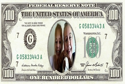Personalized $100 bill.... Free fast shipping!