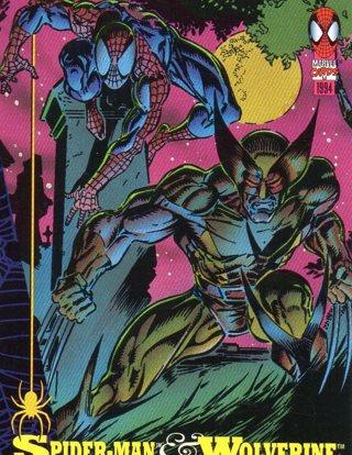 1994 Spider-Man: Collectible/Trade Card: Spider-Man & Wolverine