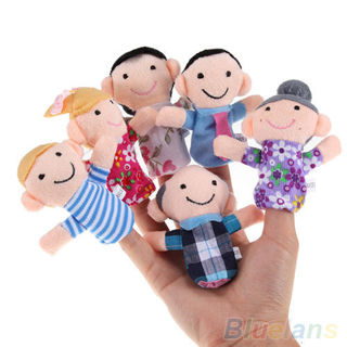 6PCS Baby Kids Plush Cloth Play Game Learn Story Family