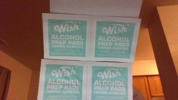 6 - wish alcohol pre pads