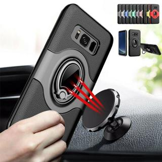 Magnetic Car Holder Ring Stand Case Cover For Samsung Galaxy S9 S8 Plus S7 edge