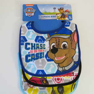 NEW PACK OF 3 PAW PATROL BIBS
