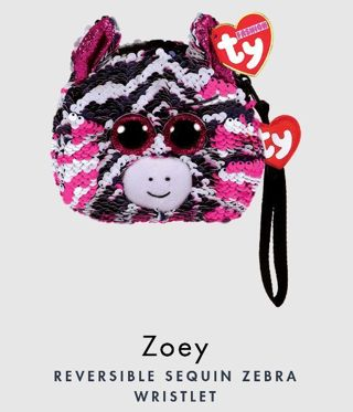 "❤❤❤NEW REVERSIBLE TY BEANIE BOO ZEBRA ""ZOEY"" 3 COLOR WRISTLET❤❤❤+POSSIBLE BONUS! (PLEASE READ!)"