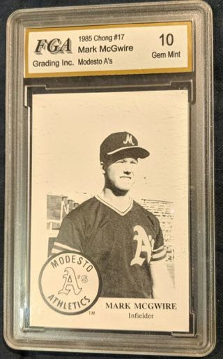 MARK MCGWIRE MODESTO A'S MINOR LEAGUE CARD * GRADED GEM MINT 10