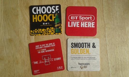 #3 4 beer coasters/mats