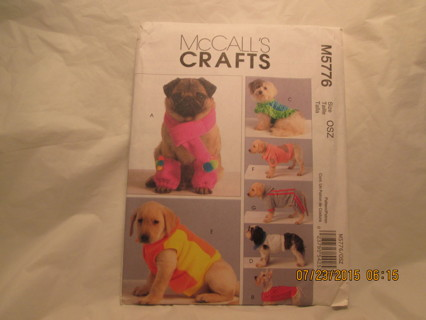 Free: Pet Clothes Sewing Pattern, McCalls 5776, Dog Jacket New Uncut ...