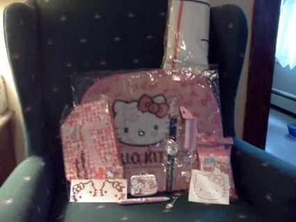 *~* Hello Kitty lot items for a Car 19 pcs. plus Car Prism Ornament*~*