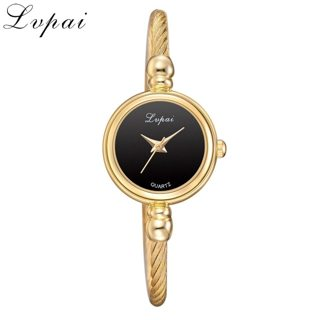 Lvpai® Women Gold Bangle Bracelet Luxury Watch Stainless Steel Quartz Casual