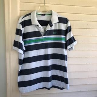 Lion brand men's size XL stripe polo shirt top