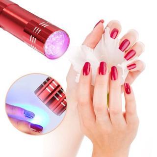 Mini LED UV Gel Curing Lamp Portability Nail Dryer LED Flashlight Currency Check Nail Art Makeup T