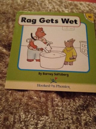 Used Children's Hooked on Phonics Book Rag Gets Wet