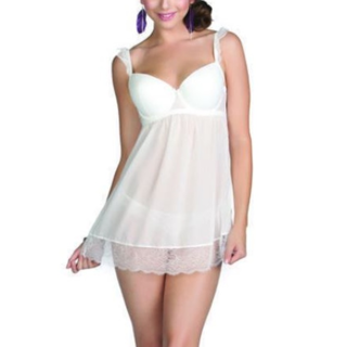NEW Women's Elegant Honey White Lingerie Dress NWT Parfait Size (30FF) FREE SHIPPING