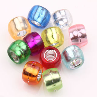 [GIN FOR FREE SHIPPING] 200 Mixed Multicolor Crafts Foil Pony Beads