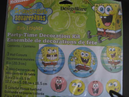 Spongbob Birthday party decoration kit, NIP,