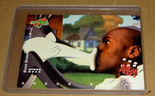 Free Upper Deck Space Jam 57 Michael Jordan Bugs Bunny Card