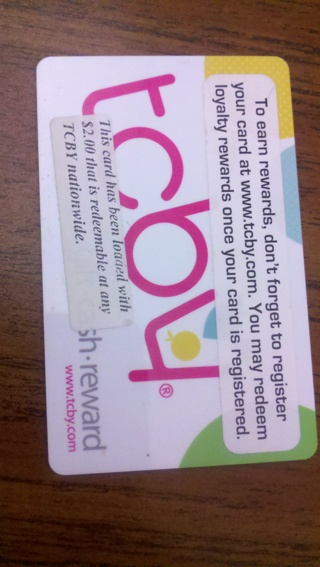 TCBY GIFTCARD