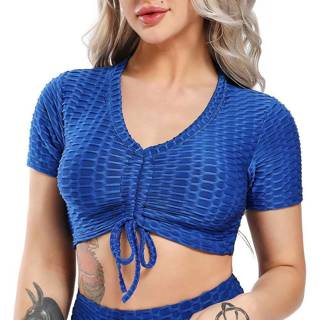 Women Sports Bra Pant Fitness Gym x1Set Blue