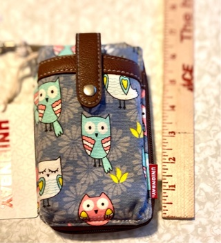 pre owned , never used Owl Print UnionBay Wristlet