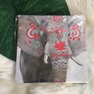 NEW Metallic Elephant Canvas Art