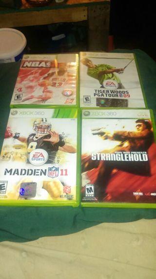 4 Xbox 360 games bundle. Accepting PayPal. Read description