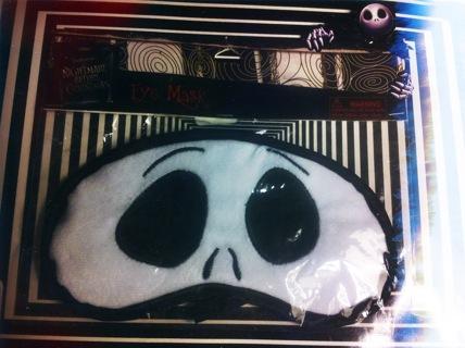 Jack Skellington Sleeping Eye Mask Nightmare Before Christmas Authentic Disney