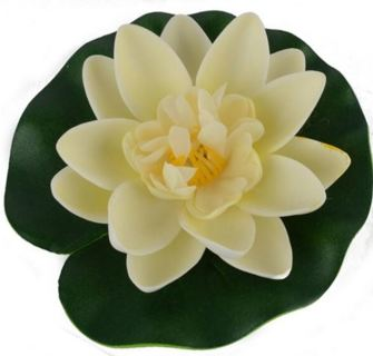 Floating Artificial Lotus Ornament for Aquarium Fish Tank Pond Water lily