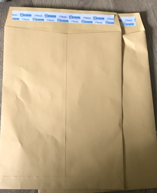 """Three 9"""" x 12"""" Yellow Manilla ENVELOPES - Secure Mailers w/ Clasp Strip Closures! Free Ship"""