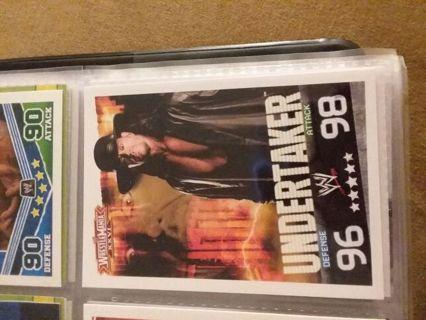 WWE 2009 Undertaker Slam Attax Card