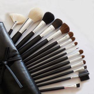 15 Pc Wholesale Face Eye Makeup Brushes Set W Brush Case