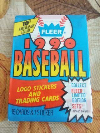 (LAST ONE) Sealed Pack - 1990 Fleer Baseball Trading Cards