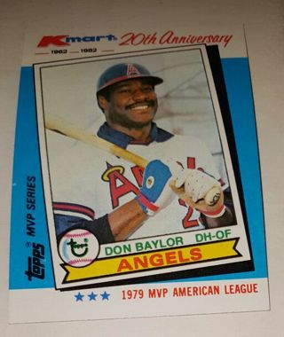 Free Rare Kmart 20th Anniversary 1962 1982 Don Baylor California
